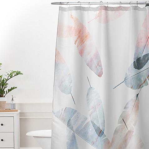 Deny Designs Iveta Abolina Coral Shoreline Shower Curtain In Grey Bed Bath Beyond