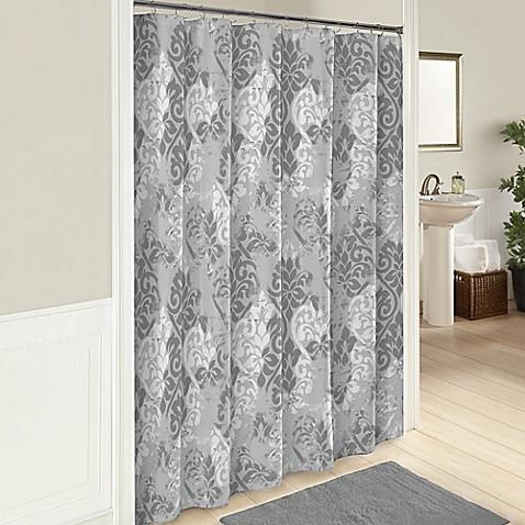 Cheyanne 72 Inch Cotton Shower Curtain In Grey Bed Bath Beyond