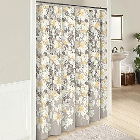 Garden Party 72 Inch Cotton Shower Curtain In Grey Bed Bath Beyond