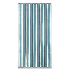 image of stripe beach towel in blue - Beach Towels On Sale