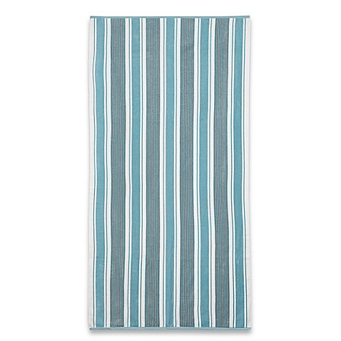 Stripe Beach Towel In Blue Bed Bath Amp Beyond