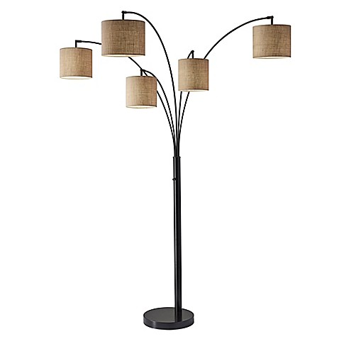 Adesso trinity 5 arm arc floor lamp bed bath beyond adessoreg trinity 5 arm arc floor lamp mozeypictures Image collections