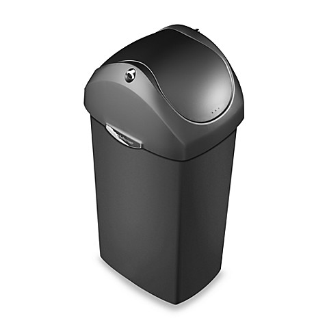 Simplehuman 174 Plastic Swing Lid 60 Liter Trash Can Bed