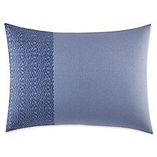 image of Vera Wang™ Home Chevron Oblong Throw Pillow in Medium Blue