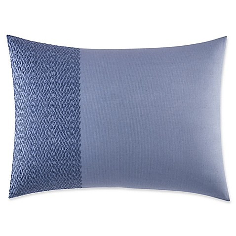 Vera Wang Home Chevron Oblong Throw Pillow in Medium Blue - Bed Bath & Beyond