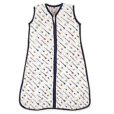 image of Hudson Baby® Arrows Muslin Sleeping Bag in White/Navy