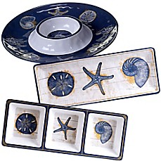 image of Certified International Calm Seas 3-Piece Hostess Set