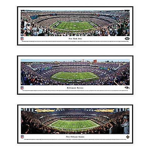 Nfl Stadium Panoramic Print With Deluxe Frame Collection