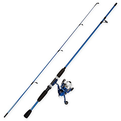Buy wakeman spinning rod and reel combo fishing rod in for Blue fishing rod
