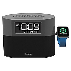 image of iHome® FM Radio Apple® Watch Charging Alarm Clock