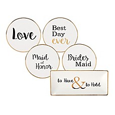 image of Olivia & Oliver Wedding Party Trinket Tray Collection in White