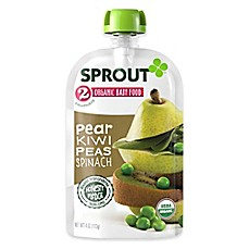image of Sprout® 4-Ounce Stage 2 Organic Baby Food in Pear, Kiwi and Spinach