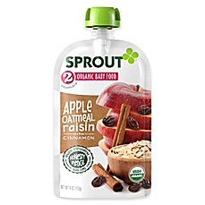 image of Sprout® 4-Ounce Stage 2 Organic Baby Food in Apple, Cinnamon and Oatmeal