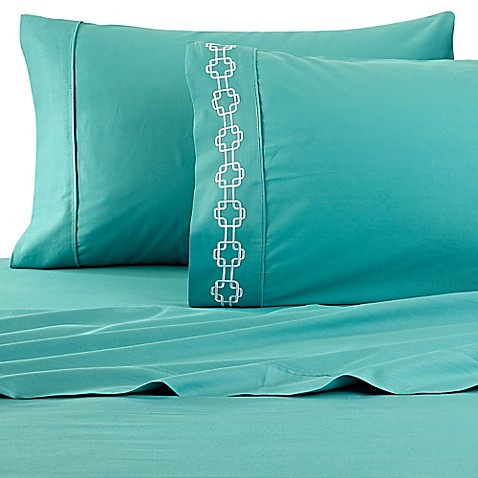 Buy clairebella solid king sheet set in lagoon from bed for Clairebella