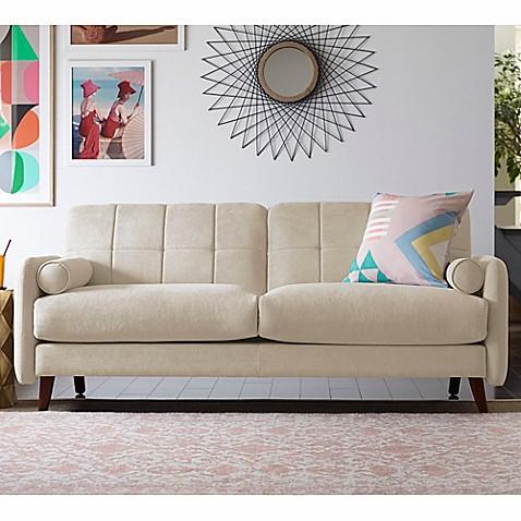 Buy elle d cor natalie sofa in beige from bed bath beyond - Elle decor natale ...