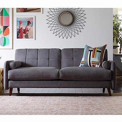 Buy elle d cor natalie sofa in dark grey from bed bath beyond - Elle decor natale ...