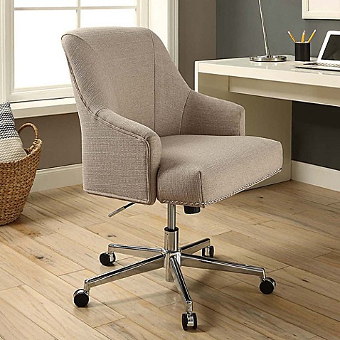 Buy Serta Leighton Home Office Chair In Light Grey From
