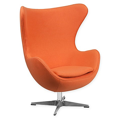 buy flash furniture wool egg chair in orange from bed bath