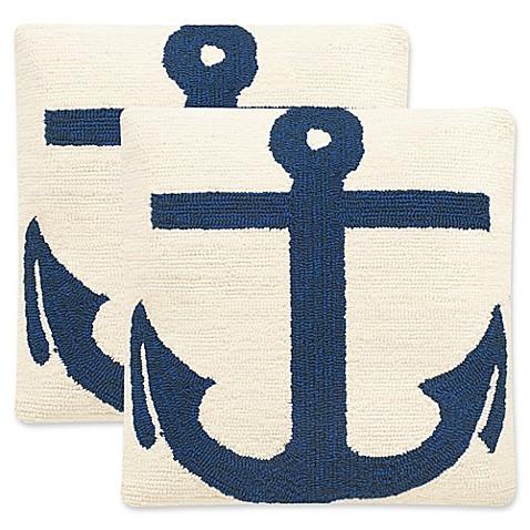 Marine Blue Throw Pillows : Buy Safavieh Ahoy 20-Inch Square Throw Pillows in Marine Blue (Set of 2) from Bed Bath & Beyond