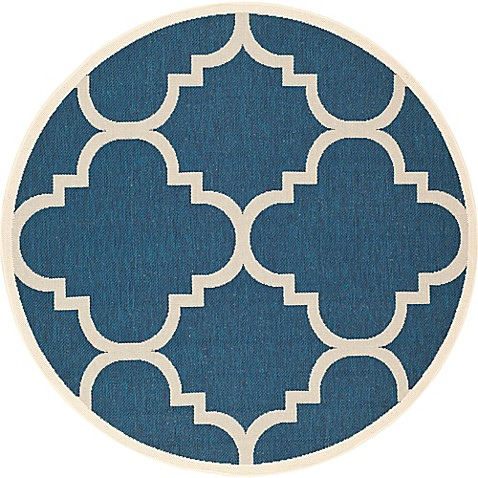 Buy Safavieh Courtyard Quatrefoil 7 Foot 10 Inch Round
