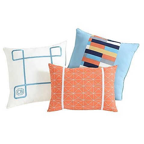 Clairebella 3 pack geometric throw pillows bed bath beyond for Clairebella