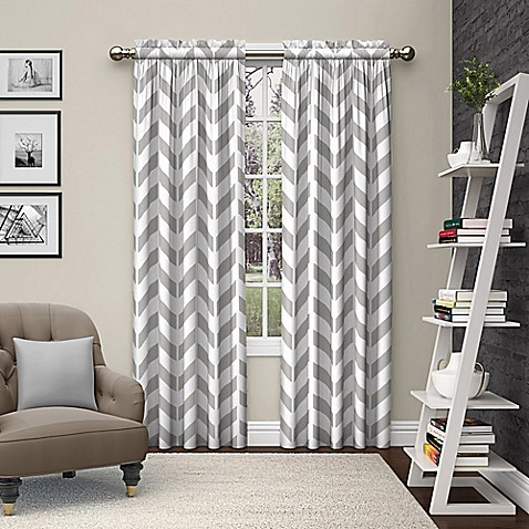 Pairs to Go™ Dewitt 84-Inch Rod Pocket Window Curtain Panel Pair in Grey
