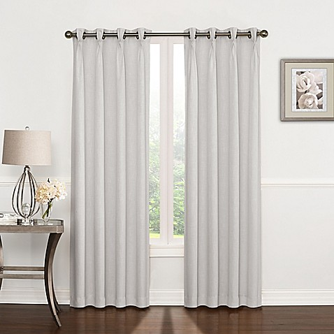 Buy Riverstone Pinch Pleat 63 Inch Grommet Top Window Curtain Panel In Silver Grey From Bed Bath