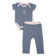 image of Finn by Finn + Emma® Organic Cotton Feather Bodysuit and Pant Set in Pink/Blue