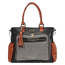 image of Itzy Ritzy® Diaper Bag Tote in Coffee & Cream