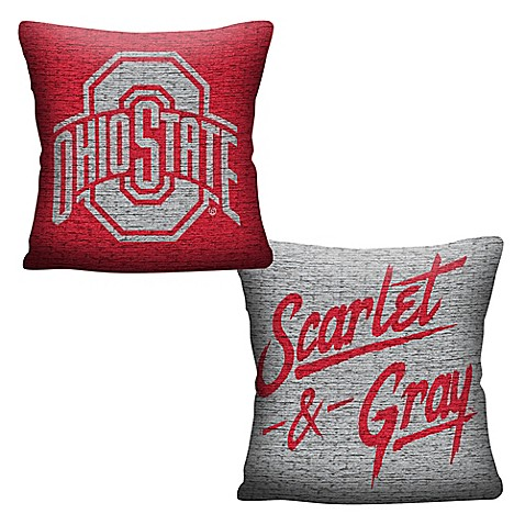 Ohio State University Woven Square Throw Pillow Bed Bath
