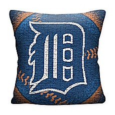 image of MLB Detroit Tigers Woven Square Throw Pillow