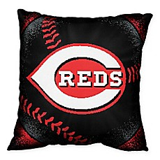 image of MLB Cincinnati Reds Woven Square Throw Pillow