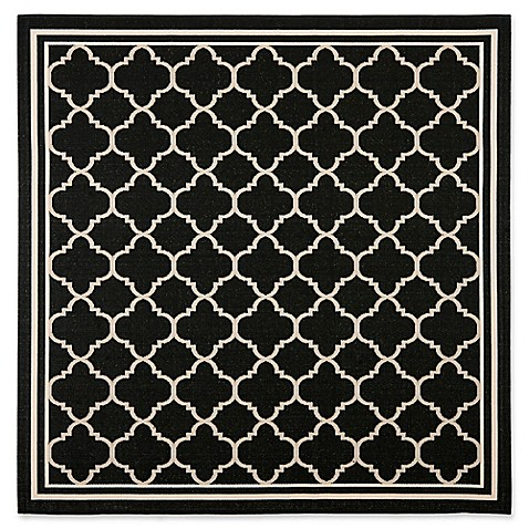 Safavieh Courtyard Miniature Quatrefoil Indoor Outdoor Rug