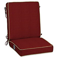 image of Bombay Berry Texture 44.5-Inch x 21-Inch Outdoor Adjustable Comfort 1-Piece Chair Cushion in Berry