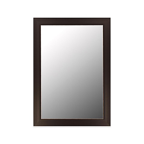 buy hitchcock butterfield 30 inch x 42 inch wall mirror in espresso silver from bed bath beyond. Black Bedroom Furniture Sets. Home Design Ideas