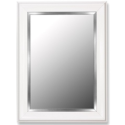 Buy Hitchcock Butterfield 30 Inch X 40 Inch Grande Wall Mirror In Glossy White Satin Nickel