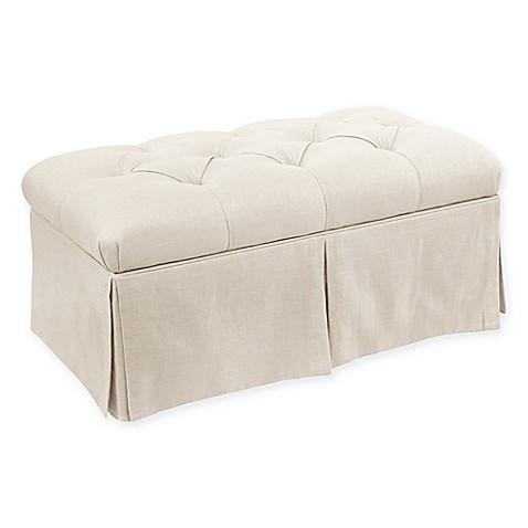 Buy Skyline Furniture Eden Storage Bench In Linen Talc