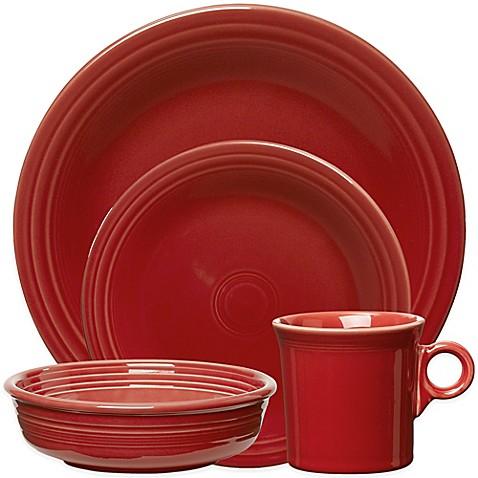 image of fiesta dinnerware collection in scarlet - Fiesta Plates