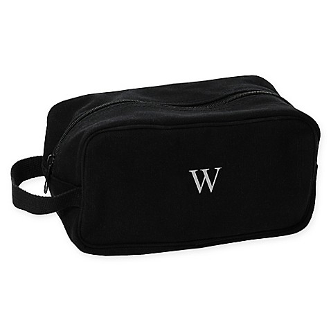 cathy 39 s concepts men 39 s canvas toiletry bag in black bed bath beyond. Black Bedroom Furniture Sets. Home Design Ideas