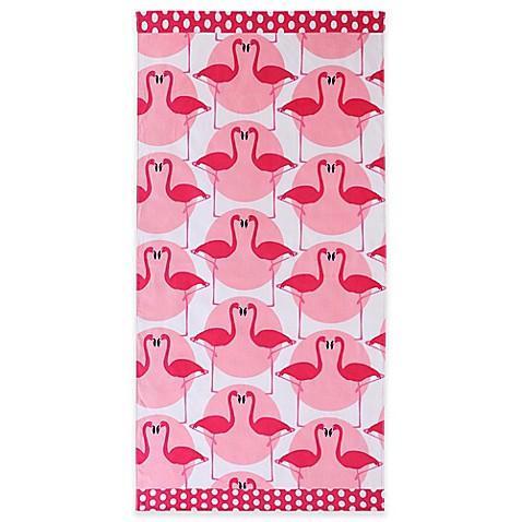 Clairebella Of Clairebella Flamingo Beach Towel In Pink Bed Bath Beyond