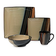 image of Sango Avanti Black 16-Piece Dinnerware Set