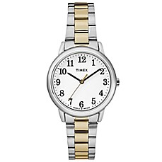 image of Timex® Easy Reader® Ladies' 30mm Classic White Dial Watch in Two-tone Stainless Steel