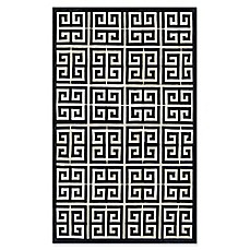 image of Couristan® Chalet Meander 9-Foot 6-Inch x 13-Foot Area Rug in Black/Ivory