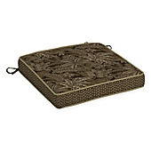 image of Bombay® Palmetto 21-Inch x 21-Inch Outdoor Seat Cushion in Espresso
