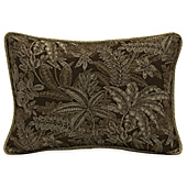 image of Bombay® Palmetto 15-Inch x 22-Inch Outdoor Oversize Lumbar Pillow with Welt in Espresso