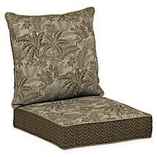image of Bombay® Palmetto Snap Dry™ 46.5-Inch x 24-Inch Outdoor Deep Seat Cushion in Mocha