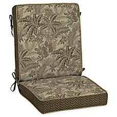 image of Bombay® Palmetto 44-Inch x 21-Inch Outdoor Chair Cushion in Mocha