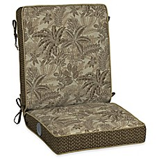 image of Bombay® Palmetto 44.5-Inch x 21-Inch Outdoor Adjustable Comfort 1-Piece Chair Cushion in Mocha
