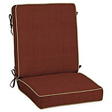 image of Bombay® Pompas Snap Dry™ 44-Inch x 21-Inch Outdoor Chair Cushion in Pomegranate