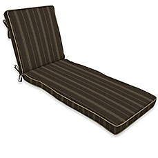 image of Bombay® Trevor Stripe 74-Inch x 22-Inch Outdoor Chaise Cushion in Espresso